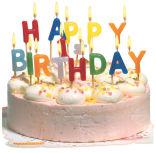 Bougies d'anniversaires