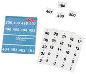 Etiquettes avec chiffres