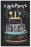 Cartes d'anniversaire chiffres
