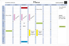 Plannings hebdomadaire