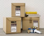Etiquettes de déménagement