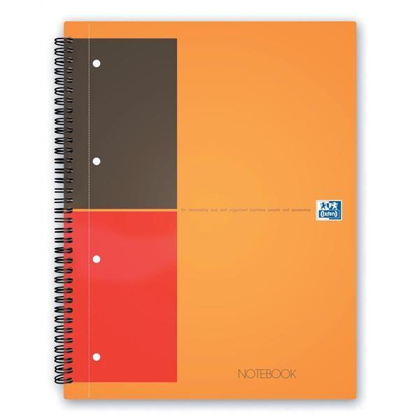 Oxford - Conquérant - Bloc collège NOTEBOOK, 160 pages A4+ (23x29,7cm) microperforées, 80g/m², ligné 6mm