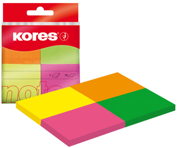 Kores marque page en papier 40 x 50 mm couleurs n on for Papeterie buro plus