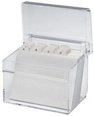 MAUL Boîte à fichier acrylique, A6, incolore transparent
