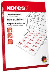 100 étiquettes universelles, 97 x 42,3 mm, blanc - Kores