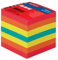 herlitz Bloc-notes cube, 90 x 90 mm, 80 g/m2, coloré