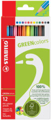 STABILO Crayon de couleur GREENcolors, étui carton de 18