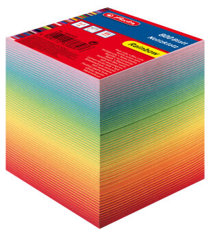 herlitz Bloc-notes cube, 90 x 90 mm, 80 g/m2, blanc
