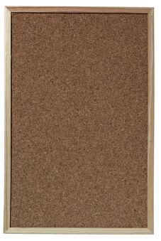Tableau en liège, avec cadre en bois, 40 x 60 cm - Herlitz