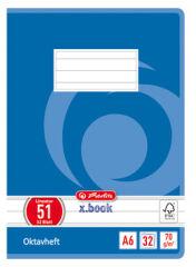 herlitz Cahier Octave x.book, format A6, quadrillé, 70g/m2,