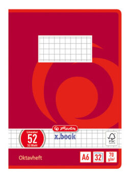 herlitz Cahier Octave x.book, A6, quadrillé, 70g/m2