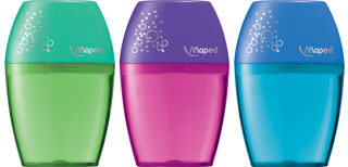 Maped Taille-crayon boîte Shaker, assorti