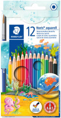 STAEDTLER Crayon aquarelle Noris, étui carton de 12
