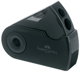 FABER-CASTELL Taille-crayon double SLEEVE, noir