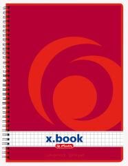 Bloc-notes Rouge - A5 - Petits Carreaux - 160 pages