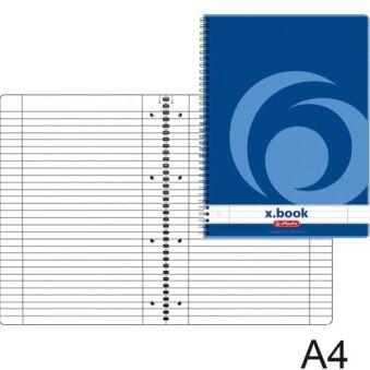Bloc-notes Bleu - A4 - Ligné - 160 pages