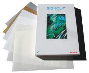 REGULUS Film autoadhésif SIGNOLIT-C, A4, brillant, blanc