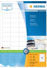 HERMA Etiquette universelle PREMIUM, 52,5 x 21,2 mm, blanc