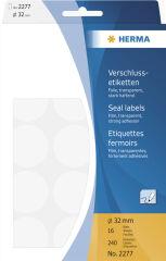 HERMA Etiquette fermoir, diamètre 32 mm, transparent