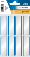 HERMA Etiquette badge 54 x 19 mm, soie-acétate, cadre