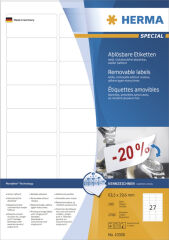 HERMA Etiquettes universelles SPECIAL, 199,6x143,5 mm, blanc