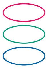 HERMA étiquettes pour livres, forme ovale, rouge / vert /