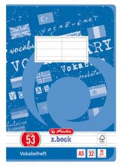 herlitz Cahier de vocabulaire x.book, A5, 2 colonnes,
