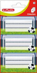 herlitz étiquettes pour livres Football, 78 x 42 mm