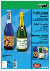 sigel Etiquette pour bouteilles, 80 x 120 mm, 85 g/m2