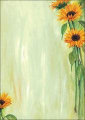 sigel Papier à motif, A4, 90 g/m2, motif 'Sunflower'