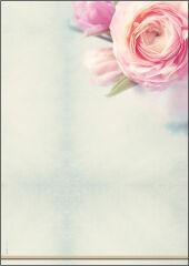 sigel Papier à motif, A4, 90 g/m2, motif 'Rose Bloom'