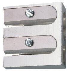 herlitz Taille-crayon duo, en aluminium, forme biseautée