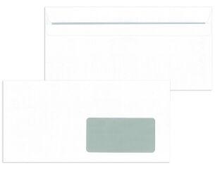 MAILmedia enveloppes, format DL, autocollant, avec fenêtre
