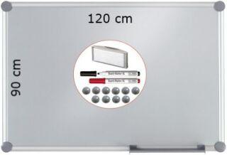 Tableau Blanc Argent Magnétique 120 x 90 cm - Maul