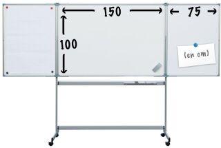 tableau velleda blanc magn tique mobile surface d 39 criture 6 m2. Black Bedroom Furniture Sets. Home Design Ideas
