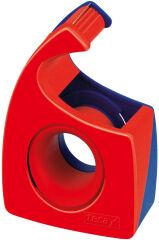 tesa Dévidoir à main Easy Cut, non équipé, rouge / bleu