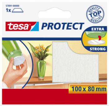 tesa Protect Patin en feutrine, diamètre: 18 mm, marron