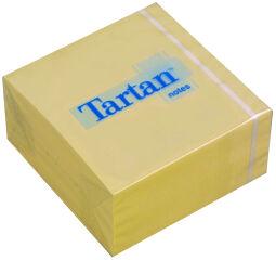Tartan Bloc-notes repositionnable en forme cube, 76 x 76 mm,