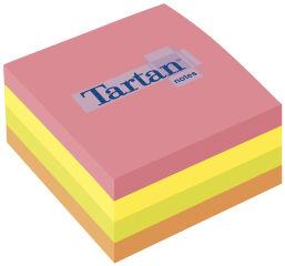 Tartan bloc-notes repositionnable en forme cube, 76 x 76 mm