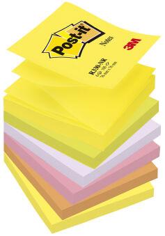 Cubes notes adhésives - 76 x 76 mm - 6 couleurs -  x 6