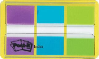 Post-it Marque-pages Index, 25,4 x 43,2 mm, 3 couleurs