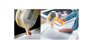 3M Dévidoir de ruban adhésif ATG, plastique, jaune