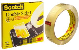3M Scotch Ruban adhésif double face 665, 12 mm x 6,3 m