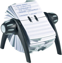 Répertoire d'adresses rotatif - TELINDEX Flip - Noir
