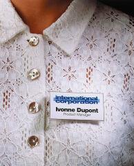 DURABLE Badge à aimant, 75 x 40 mm, tranparent