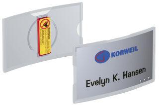 DURABLE Badge KONVEX, avec aimant, 75 x 40 mm