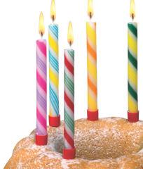 SUSY CARD Bougies d'anniversaire 'Sucre d'orge', en cire