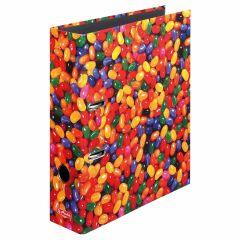 """Classeur maX.file à motif """"Jelly Beans"""" - A4 - de dos 80 mm"""