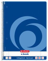 Bloc-notes Rouge - A4 - Petits Carreaux - 160 pages