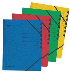 herlitz Trieur easyorga, A4, carton, 7 compartiments, rouge